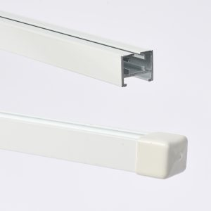 Vorhangschiene Track-20, weiß/alu-silber (Meterware) 1 -Backdrop