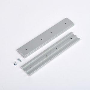 Schienenverbinder Track-20, Aluminium-Bauteil 2 -Backdrop